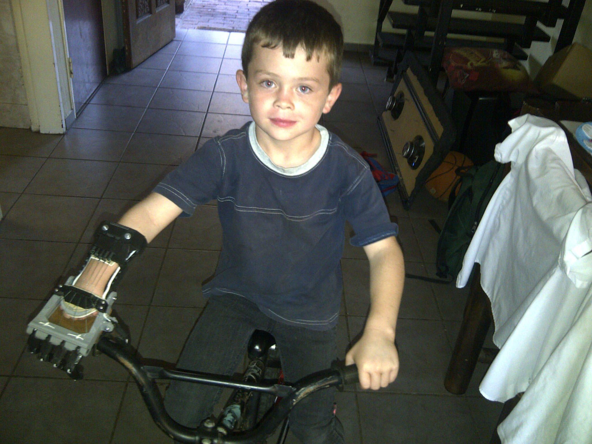 Liam bike hand