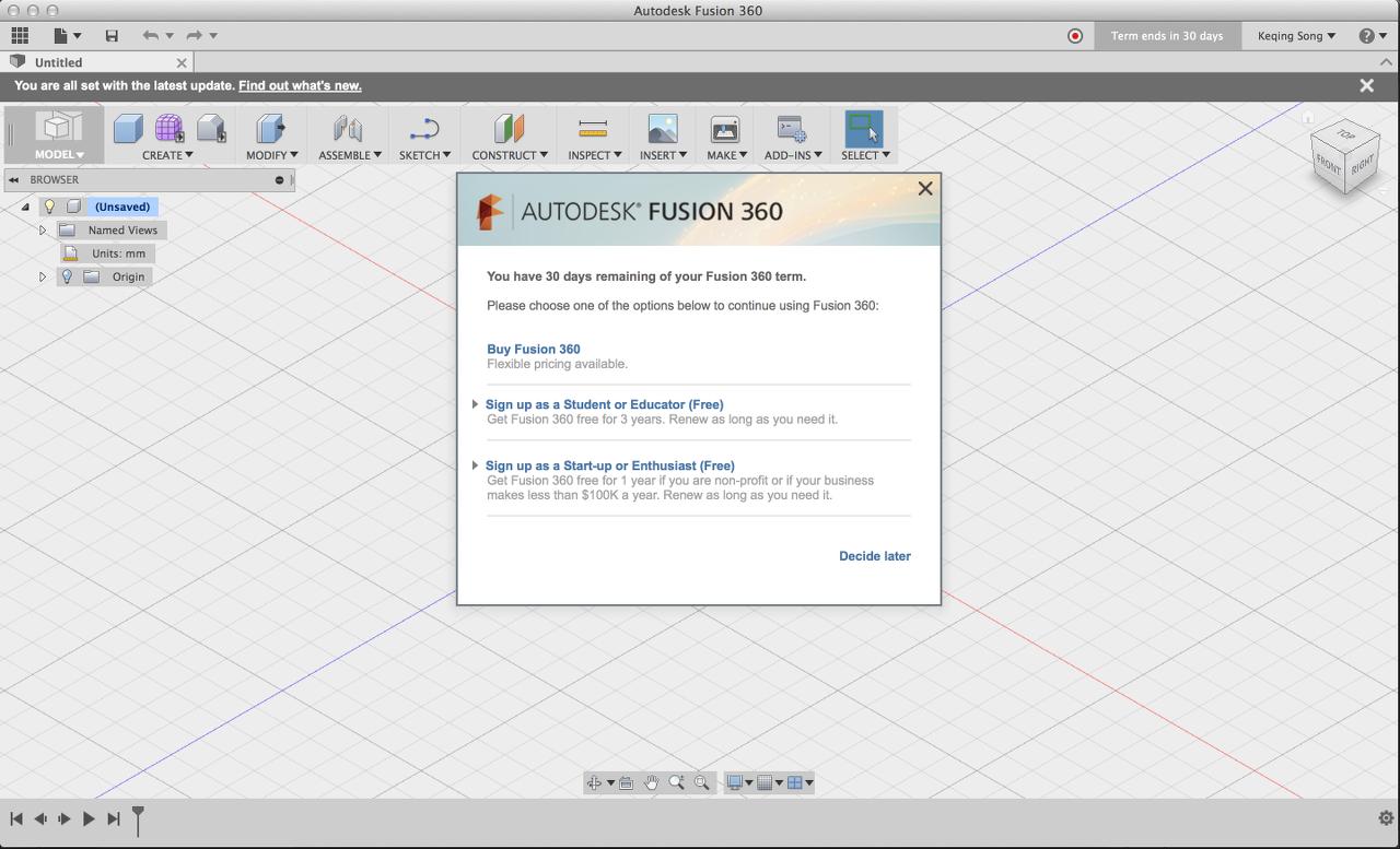Autodesk Fusion 360 Student Version