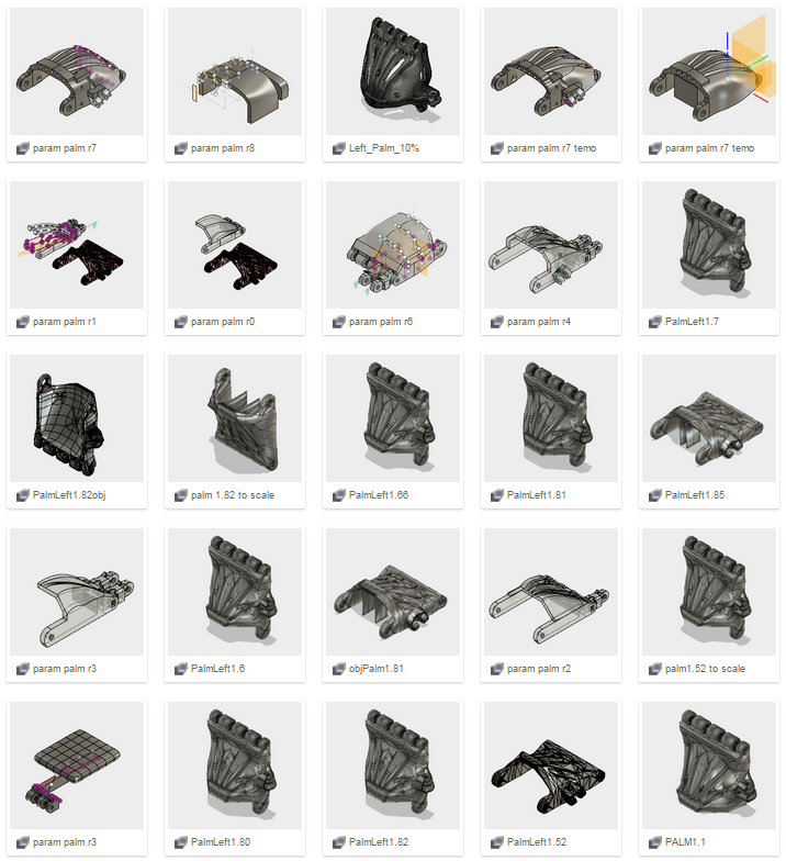And on the CAD side, we did even more iterations.