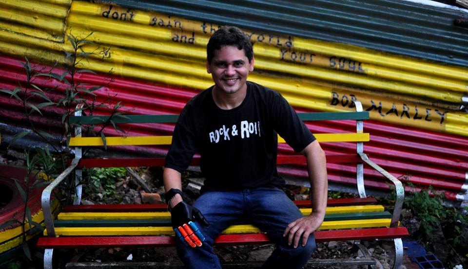 Not only did Elias get his own 3D printed hand, but he immediately started volunteering with Po Paraguay to help design other assistive devices.